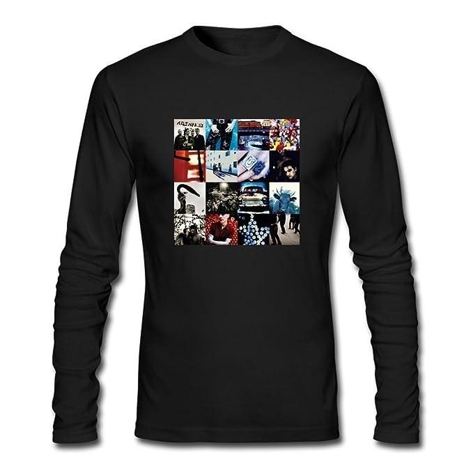 Xiuluan Hombres de U2 Achtung bebé camiseta de manga corta: Amazon.es: Ropa y accesorios
