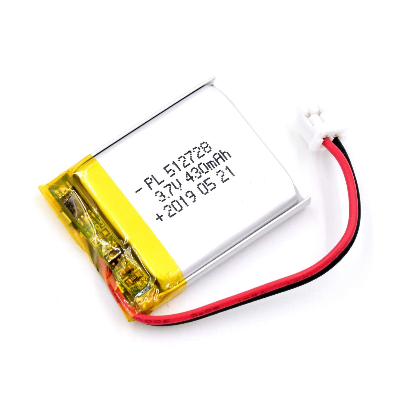 Bateria Lipo 3.7V 430mAh 512728 Recargable JST Conector
