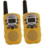Zomei T388 2Pcs Mini Walkie Talkie 3-5KM Range 22-Channel FRS/GMRS UHF Two-Way Radios Coloful Walkie-Talkie For Kids(Yellow)