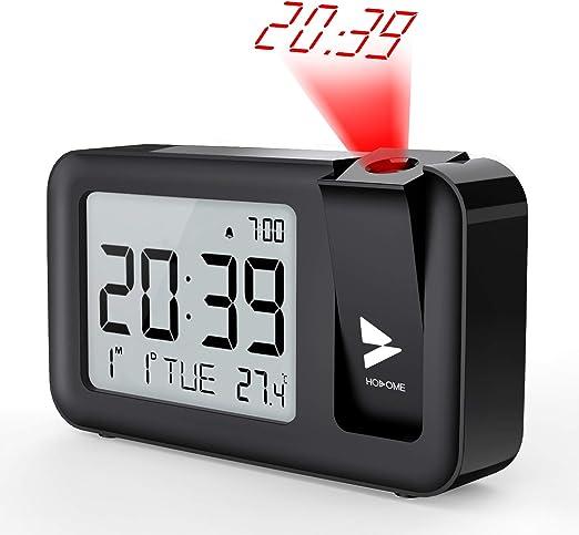 Hosome Despertadores Digitales Reloj Despertador Proyector con ...