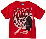 Star Wars Lego Little Boys' Full Force T-Shirt, Red, Small