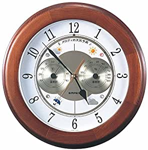 Enpekkusu weather thermometer temperature hygrometer melody Meteorological Observatory Grande weather forecast function with wall mount made in Japan Brown BW-5078