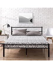 Zinus OLB-QLPBHFB-12Q Metal Platform Bed Frame with Headboard and Footboard / Premium Steel Slat Support / Mattress Foundation, Queen