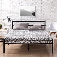 Zinus OLB-QLPBHFB-12F Geraldine 12 inch Black Metal Platform Bed Frame with Headboard and Footboard