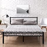 Zinus Metal Platform Bed Frame with Headboard and Footboard/Premium Steel Slat Support/Mattress Foundation, Queen