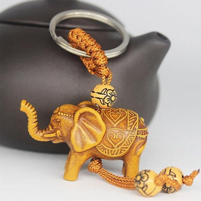 Shangwelluk 2 Piezas de Elefante Tallado Colgante Afortunado ...