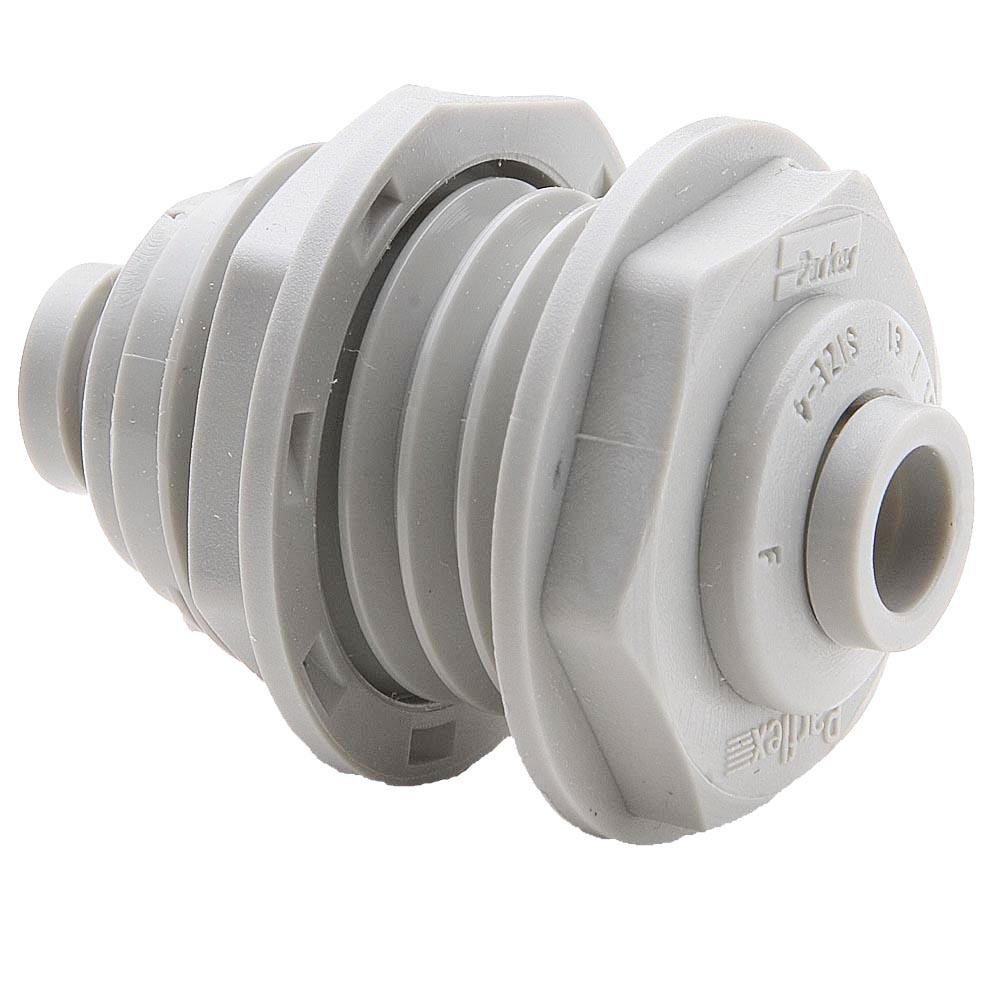 3//8 Push-to-Connect Bulkhead 3//8 Pack of 20 Trueseal Acetal Tube to Tube Parker A6BU6-MG-pk20 Push-to-Connect All Plastic FDA Compliant Fitting Pack of 20