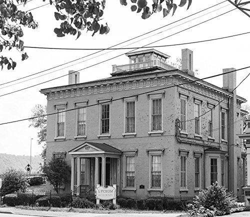 24 X 36 B W Giclee Print Of The Henry K  List House  On Main Street In Wheeling  West Virginia  Was Built In 1858  For The President Of The City Bank Of Wheeling 2015 Highsmith 66A