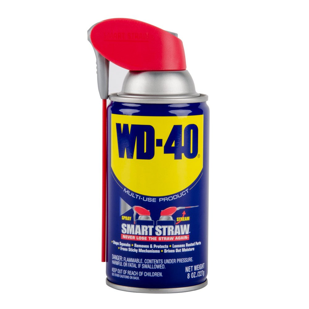WD-40 스마트 밀짚 2 웨이 스프레이 윤활제 8 온스 캔(2 팩)