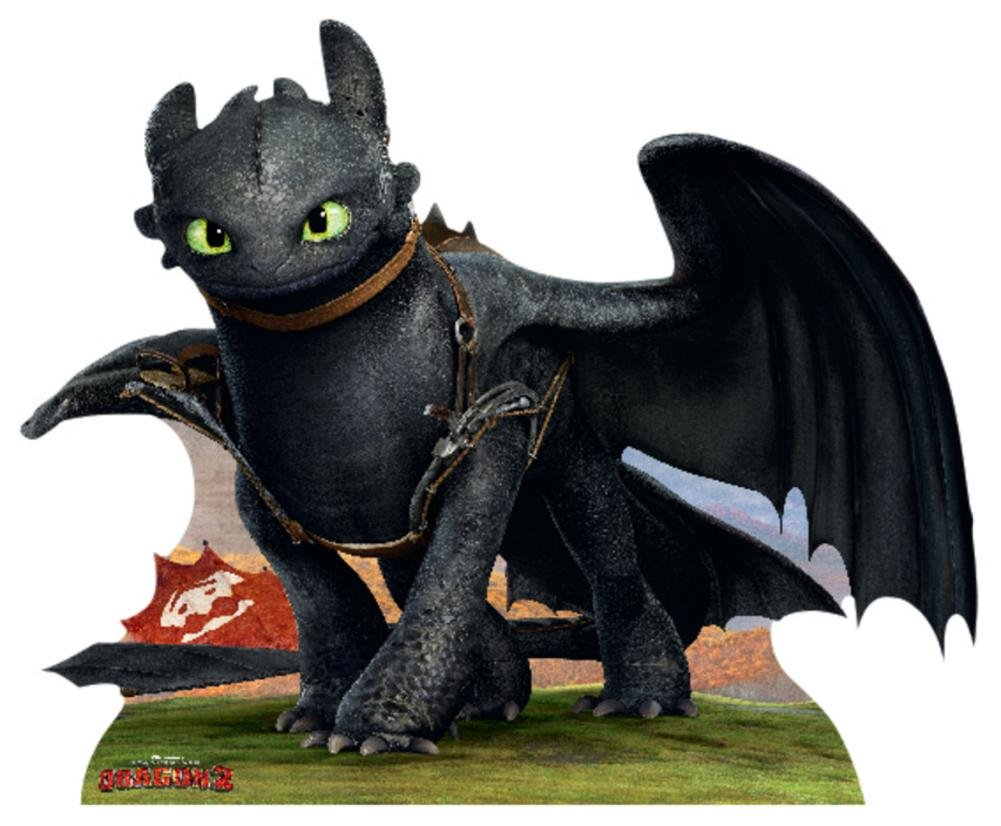 How To Train Your Dragon 2 - Toothless The Dragon Lifesize Standup Cardboard Cutouts 40 x 48in by Empire Furniture USA
