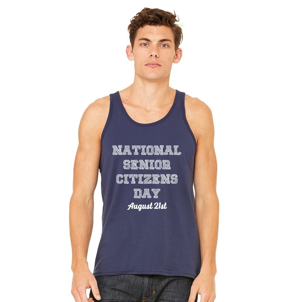 Mad Over Shirts National Senior Citizens Day August 21st Unisex Premium Tank top