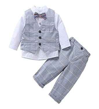Baby Boy Gentleman Clothing Suit, Camisa de Manga Larga Boy + ...