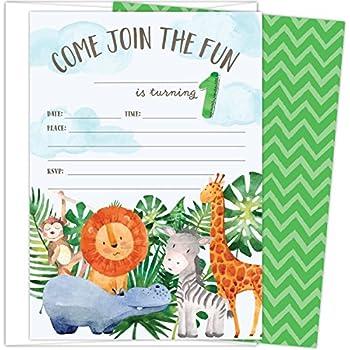 amazon com safari jungle zoo animals party invitations for kids