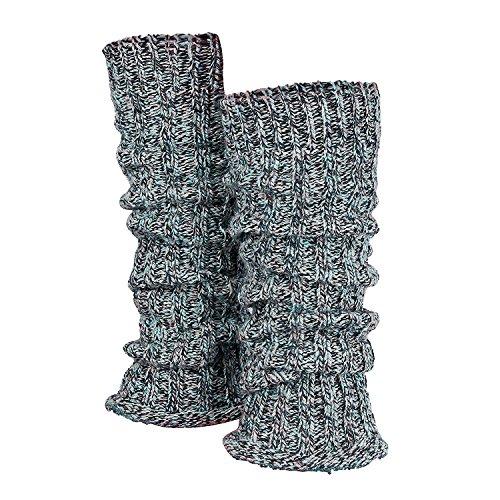 Tobeni 1 paar wollen beenwarmers voor dames, knuffelig, zachte beenwarmers