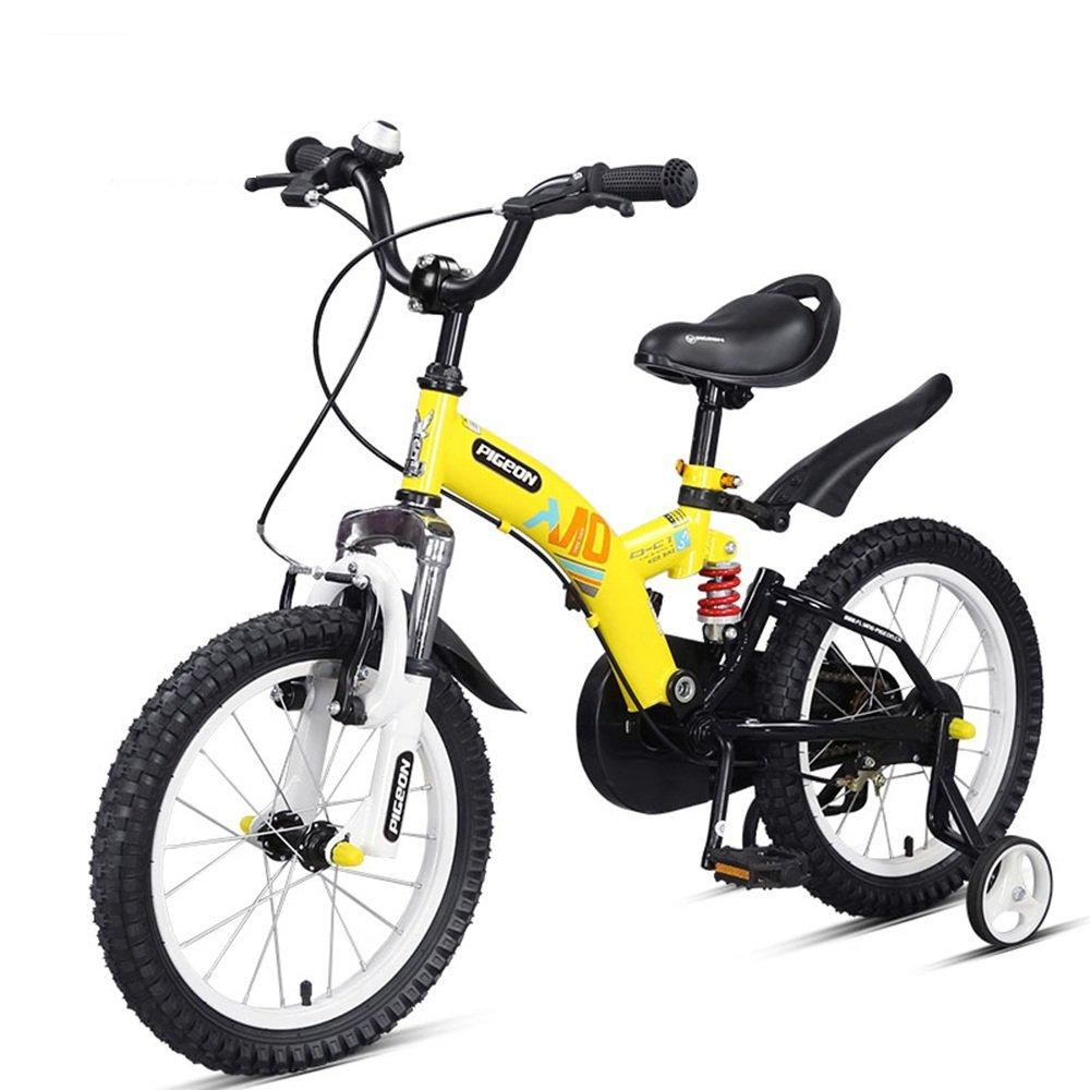 マチョン 自転車 フルフロントフォークとフレームダブルサスペンション子供用自転車はレッドイエローオレンジフロントとリアショックアブソーバです B07DS7ZPSTYellow -14