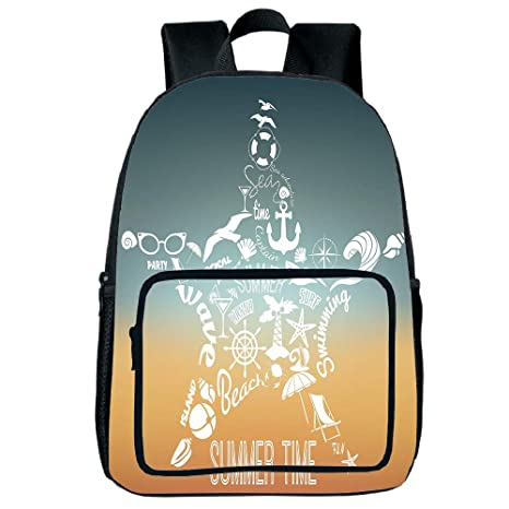 4582c7257f6a Amazon.com: Customizable Square Front Bag Backpack,Starfish Decor ...
