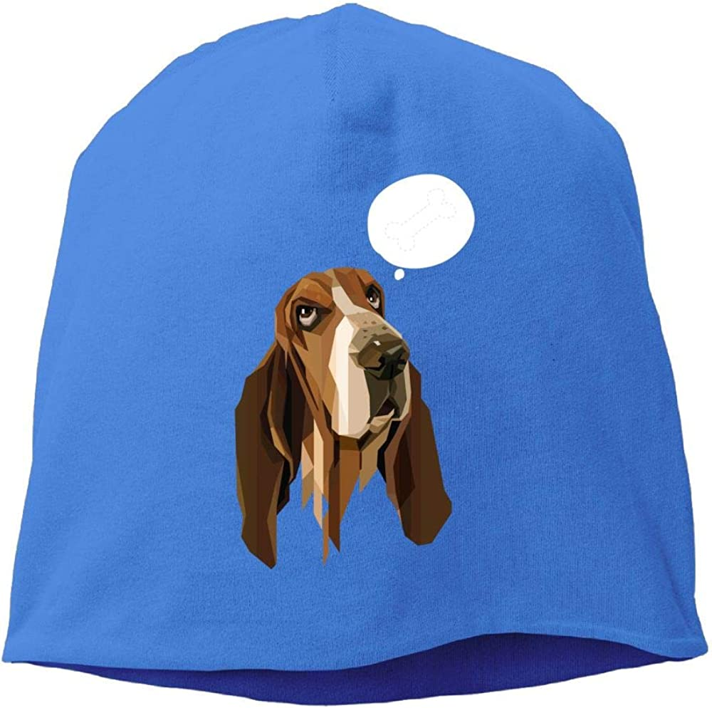 Janeither Headscarf Lovely Dog Thinking Hip-Hop Knitted Hat for Mens Womens Fashion Beanie Cap