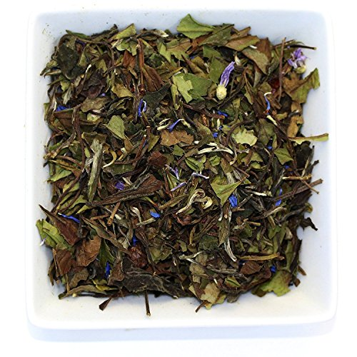 Tealyra - White Champagne - White Loose Leaf Tea - High level of Antioxidants - Natural - Healthy Tea - Hot and Iced Tea - Caffeine Level Low - 100g (French Garden Champagne)