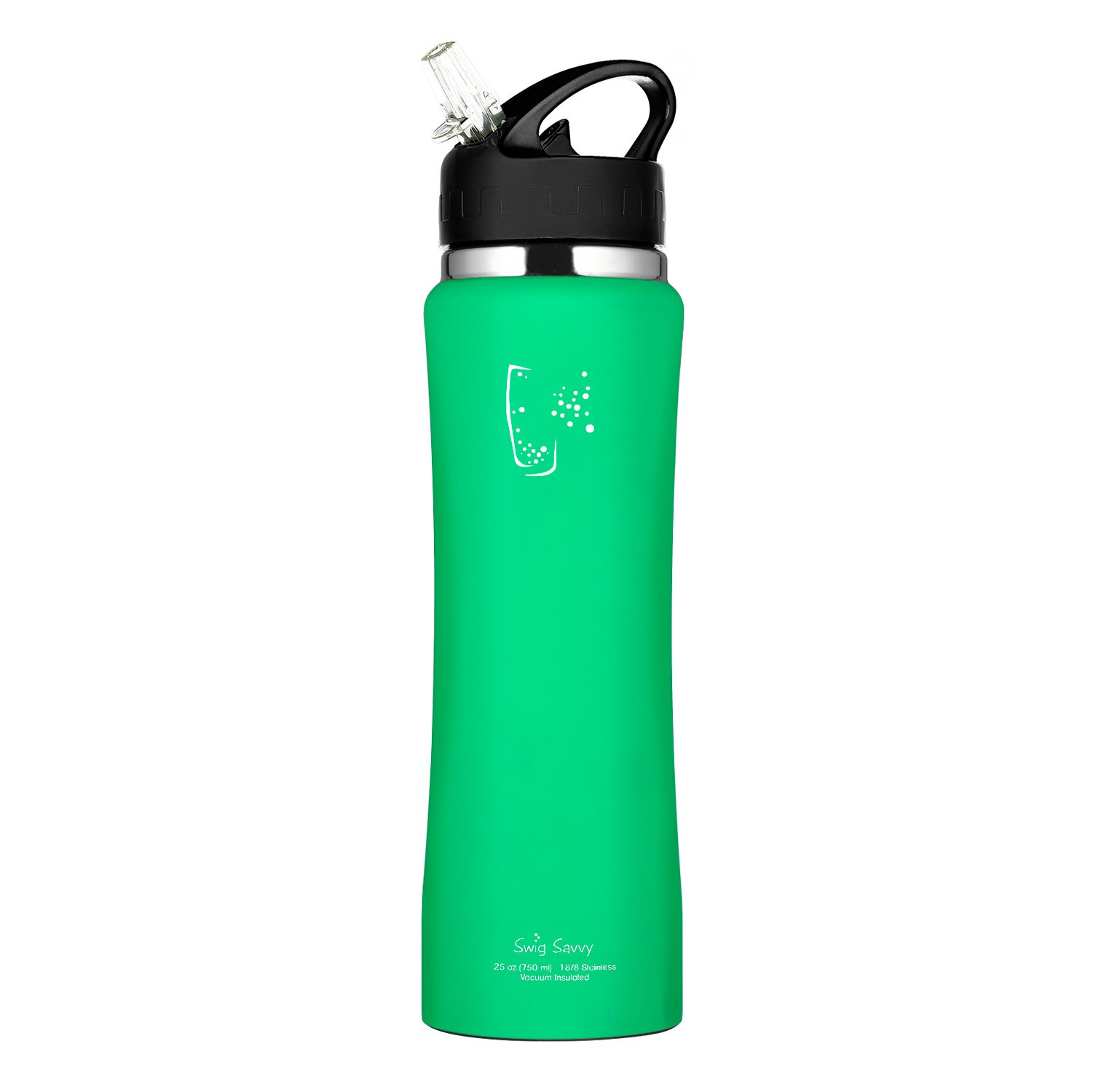 9d1083681a Swig Savvy Stainless Steel Insulated Leak Proof Flip Top Straw Cap Water  Bottles with Pouch & Clip, Aqua Fresh, 24oz - FBA-DOUBELWELL-AQUAFRESH <  Sports ...