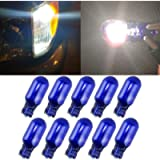 10pcs T10 W5W 168 194 Halogen bulb 12V for Car Wedge Side Light Bulb White Car Tail Light Side Parking Dome Door Map…