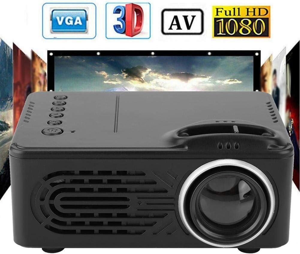 Mini proyector 1080P, 20000h LED 20-80 Pulgadas Pantalla Proyector de Video, Compatible con PS4, TV Box, Smartphone, Computadora Portátil, PC, Negro(1080P): Amazon.es: Electrónica