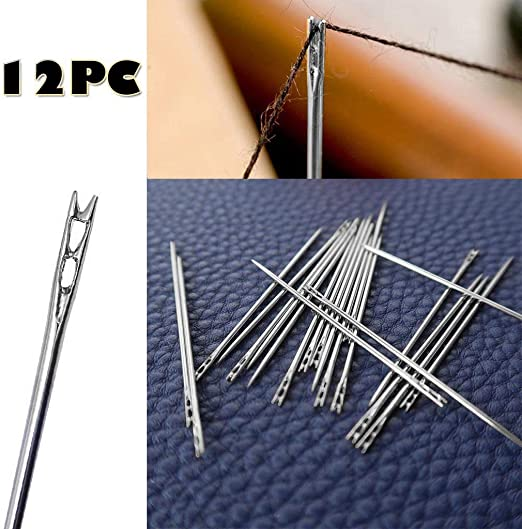 Self Threading Hand Sewing Needles Simple Easy Thread Assorted Sizes Tools YI
