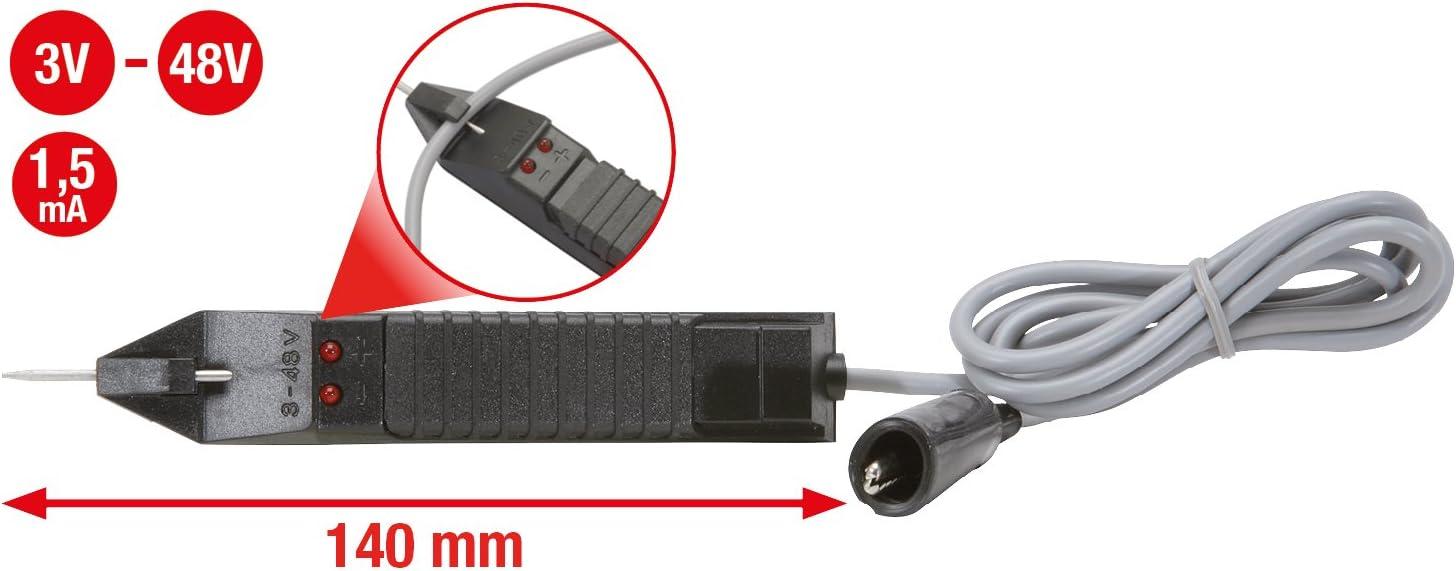 KS Tools 550.1503 Testeur pique-c/âble automobile 3-48 V