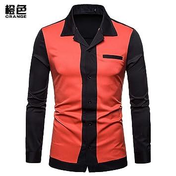 MUMU-001 Nuevo Traje de Hombre otoño Camisa de Hombre Solapa ...
