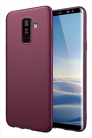 EIISSION Funda Compatible con Samsung Galaxy A6 Plus 2018, Ultrafina Funda Revestimiento Mate Case Hard Case Delgado y Ligero PC Material Carcasa ...