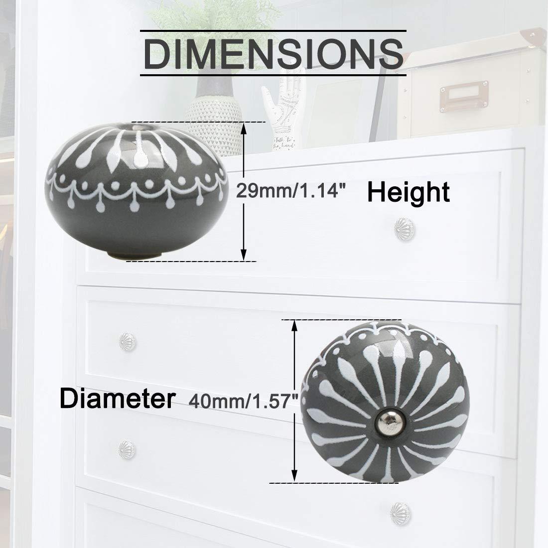 aparadores armarios armarios de Sourcingmap Tiradores de cer/ámica Vintage para Puertas de Muebles Decorativos para Cocina armarios