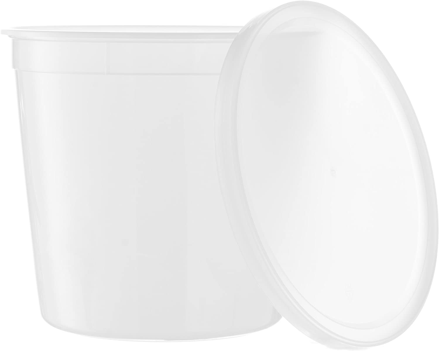 Basix Round Clear 168-Ounce Food Storage Container with Lids, 10 Count