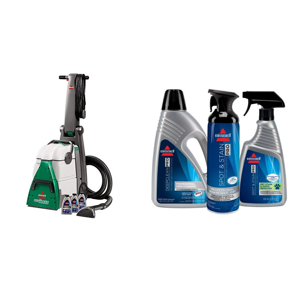 Bissell Big Green Professional Carpet Cleaner Machine, 86T3 &  Professional Formula Kit for Full Size Machine Cleaning, 5317 by Bissell