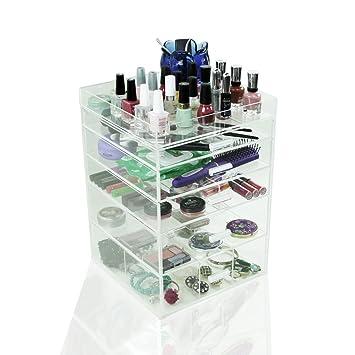Amazon.com: houseables acrílico Organizador de Maquillaje ...