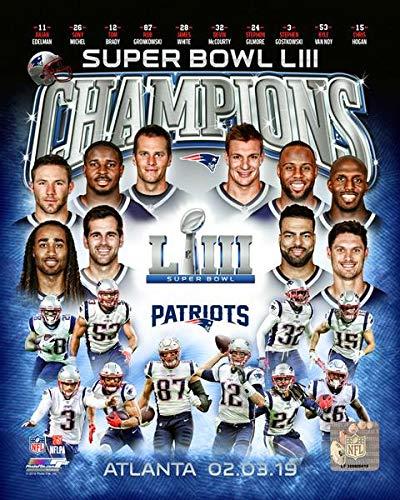 Patriots Super Bowl LIII Champions Team Collage 8