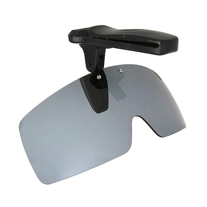 a32d82a40a5 HKUCO Sunglasses Clip Titanium Polarized Lenses Hat Visors Clip-on  Sunglasses For Fishing Biking Hiking Golf UV400 Protect  Amazon.in   Clothing   ...