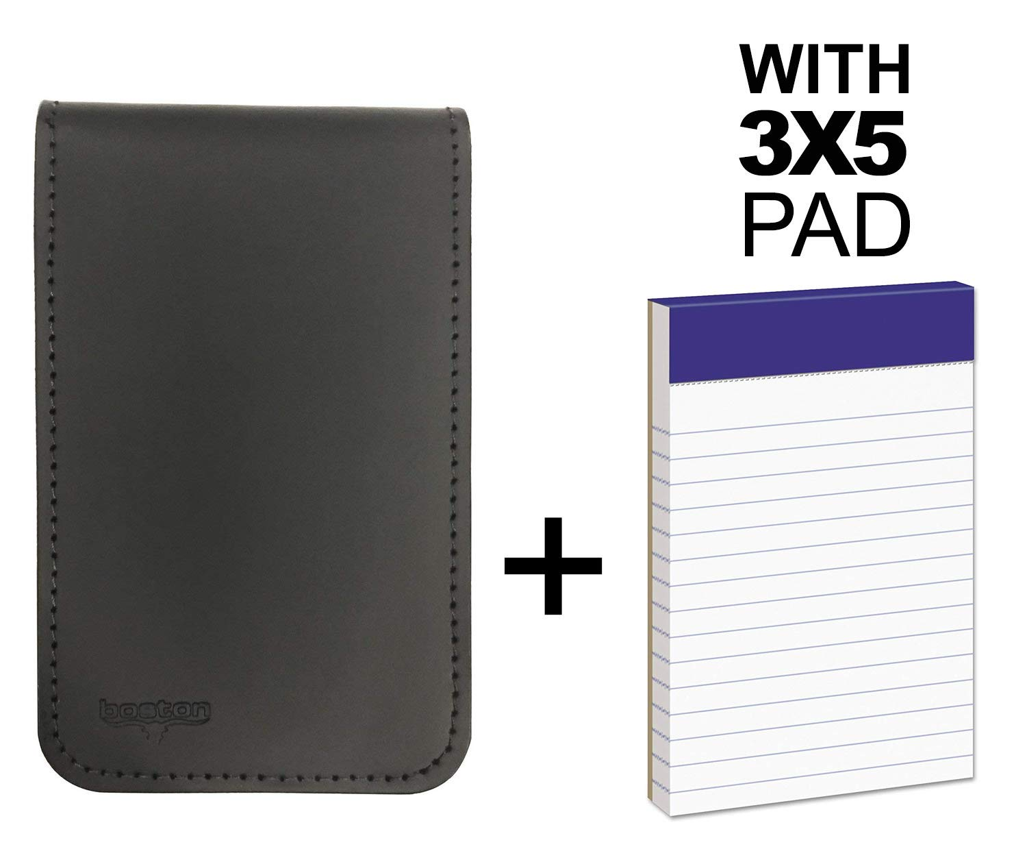 Memo Pad Cover & Holder, 3.5-Inch X 5.5-Inch Pocket Notebook, Includes One 3X5 Memo Pad