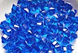Kitchen Table Decorating Ideas Acrylic Clear Ice Rocks Cubes 300g/bag, LongBang Vase Filler or Table Decorating Idea (Blue)