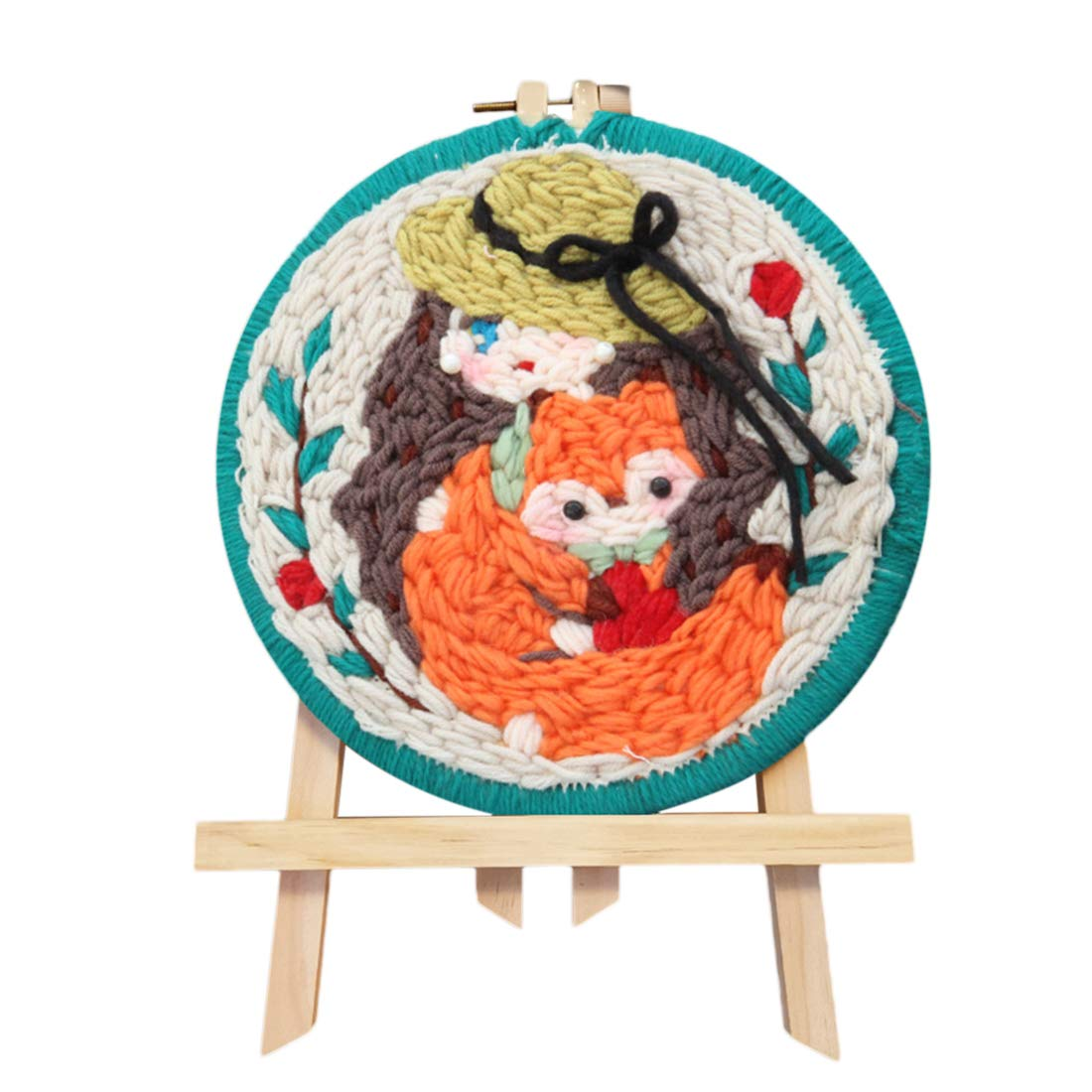 Carrot Embroidery Frame and Holder FenglinTech Rug Hooking Kit DIY Handcraft Latch Hook Kits with Punch Needle Rug Hooking Tool