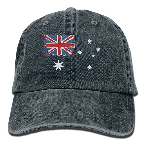 DA41SXK1 TeeStars - Australian Flag - Vintage Style Retro Australia Flag Hat Snap-Back Hip-Hop Cap Baseball Hat Head-Wear Cotton Snapback Hats Navy (Australia Cap)