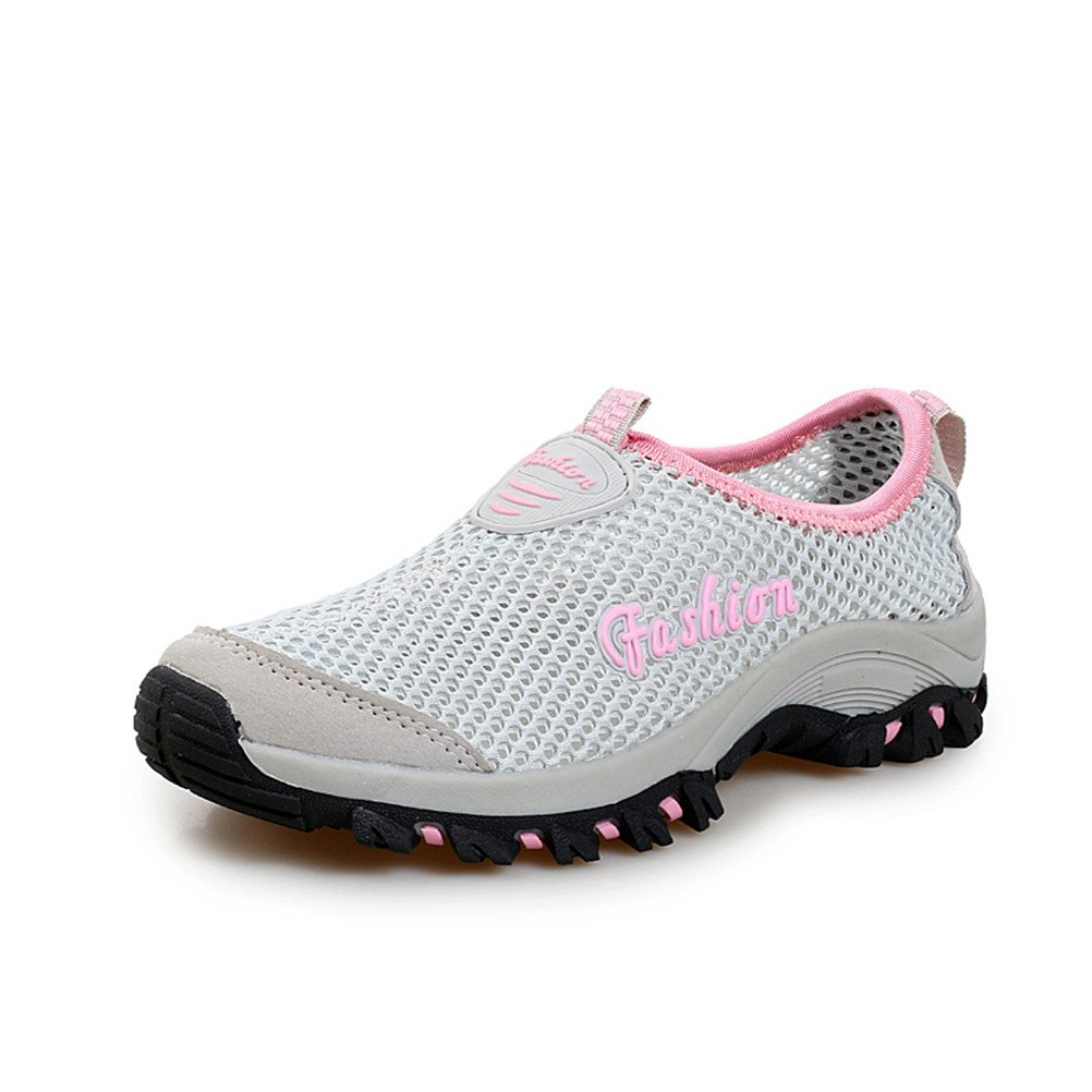 Taiya Women's Breathable Walk Beach Outdoor Water Driving Shoes B01E8SIZ38 37 M EU|Gray