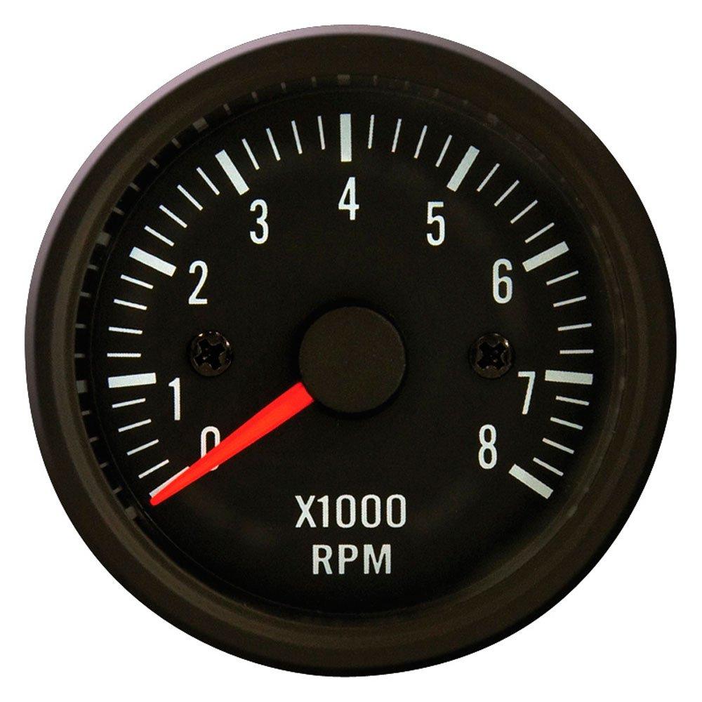 Autostyle PI 48955 Tableaux de Bord Instrument Performance Compte Tours, Noir Classique, 52 mm YTA-12