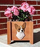 Chihuahua Planter Flower Pot Fawn White For Sale