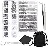 Selizo 1800Pcs Eyeglass Repair Kit with Glasses Screws and Eyeglass Nose Pads for Eyeglasses and Sunglasses