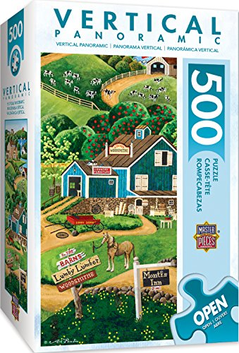 - MasterPieces Vertical Panoramics To the Barns Country Scene Panoramic Jigsaw Puzzle by Art Poulin, 500-Piece
