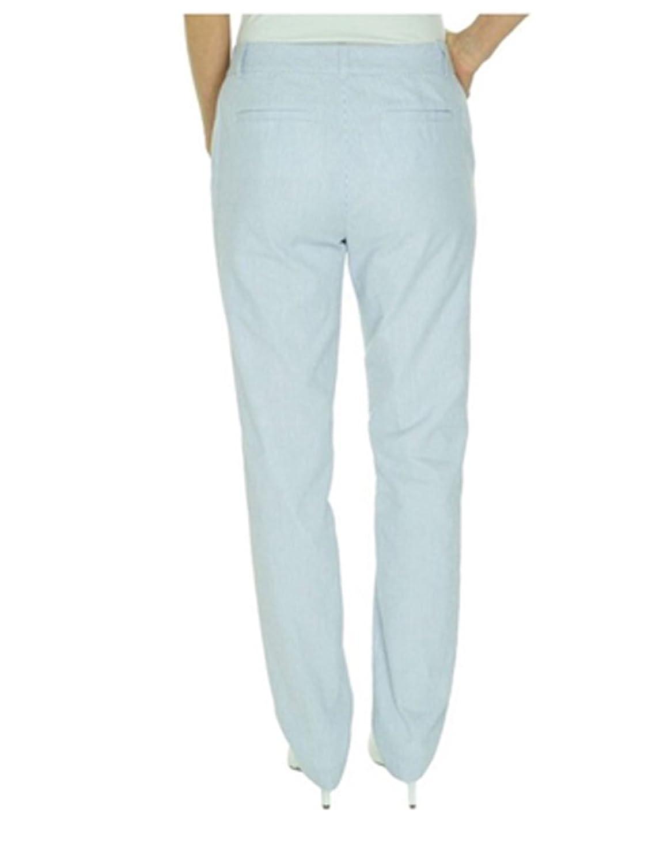 Ralph Lauren Women's Edita Seersucker Straight Pants