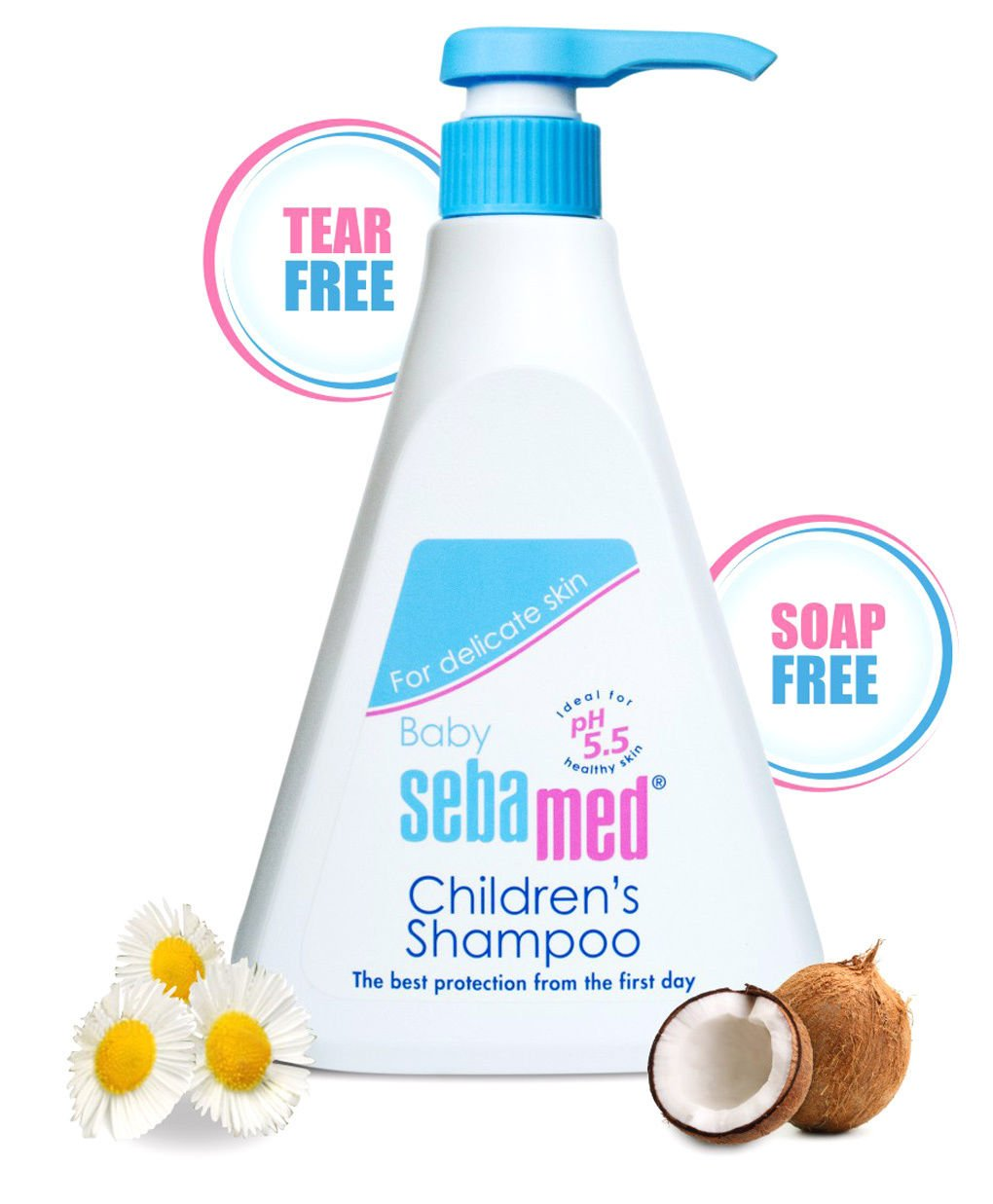 SebaMed Childrens' Shampoo, 500Ml 0-3 Months White by SEBAMED