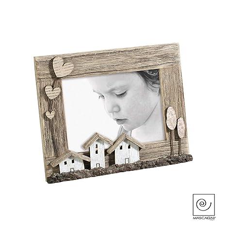 Mascagni marco de fotos Madera de playa con casita 13 X 18