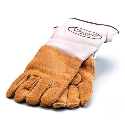 Vermont Castings chimenea y estufa de piel guantes de seguridad