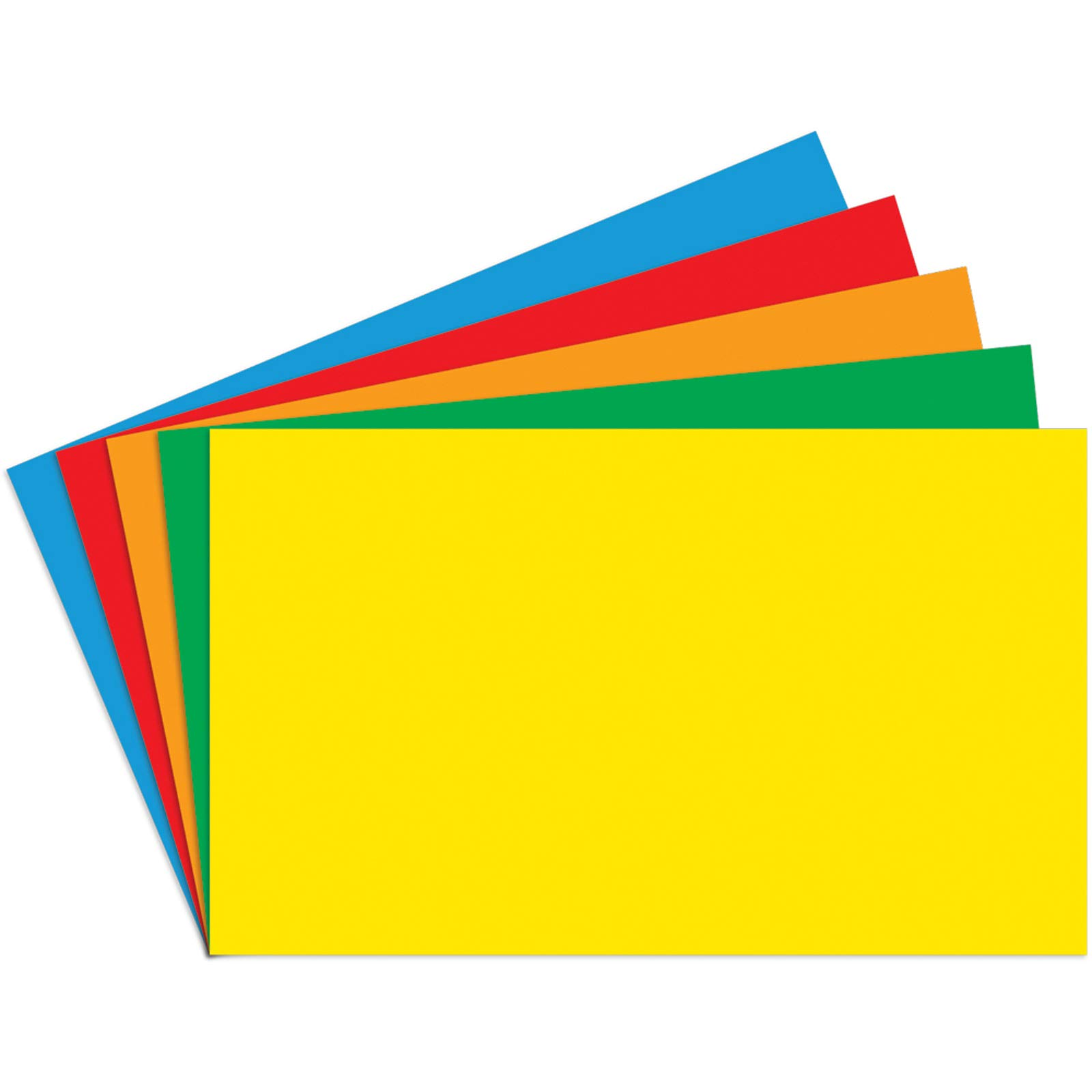 Top Notch Teacher Products TOP3661BN Index Cards, 4'' x 6'' Blank, Primary Assorted, 100 Per Pack, 6 Packs