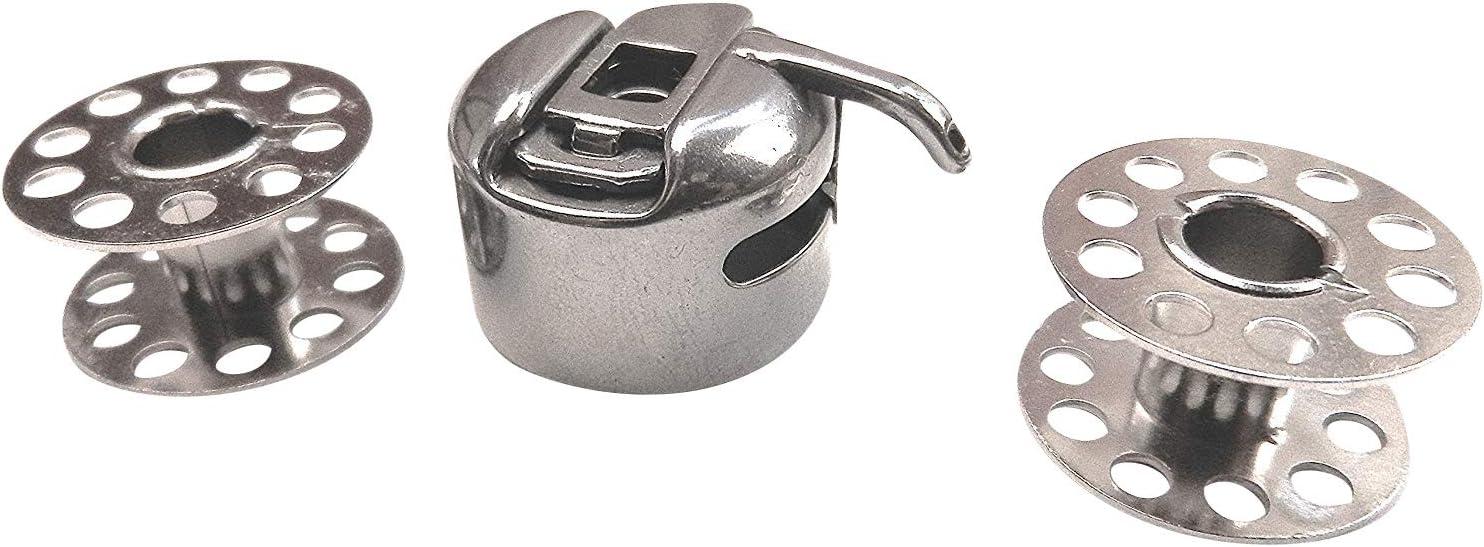 ZickZackNaehmaschine CB Bobina Cápsula + 2 bobinas de metal ...